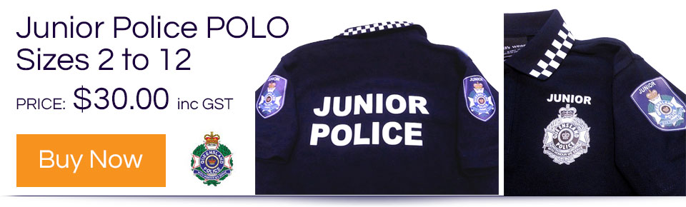 Junior Police POLO - Sizes 2 to 12